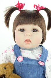 Wholesale Silicone Mini Love Dolls - Fashion child love dolls silicone Reborn baby dolls girls toy newborn lifelike baby with clothes mohair very cute