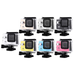 Wholesale Video Card Images - H9 Action Camera 1080P 4K 30fps 30M Waterproof WiFi Action Sport Video Camera 170 Degree Wide Angle Free Shipping