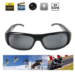 Wholesale Spy Cameras 5mp - 5MP 1920*1080P HD Spy Sunglasses Surveillance Hidden Camera Camcorder Video Eyewear Cam DV DVR