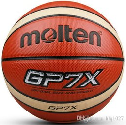 Wholesale Indoor Material - NEW Brand Official Standard Size7 Official Molten Basketball GP7X Molten PU Material Indoor Outdoor Basketball free shipping