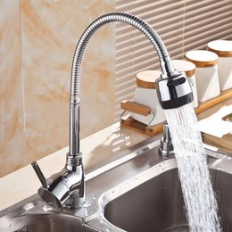 Wholesale Wholesale Basins - Wholesale- Flexible Zinc Alloy Faucet Hot Cold Taps Water Outlet Faucets 360 Degree Rotating Faucet For Kitchen Wash Basin Tools