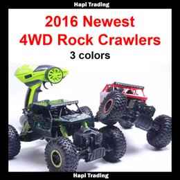 Wholesale Rock Rc - Wholesale-RC Car 2.4G 4CH 4WD Rock Crawlers 4x4 Driving Car Double Motors Drive Bigfoot Car Remote Control Car Model Off-Road Vehicle Toy