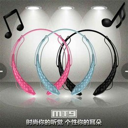 Wholesale Tablet Pc For Sale - Hot sale MT9 brand AEC Noise Reduction wireless Bluetooth stereo Headphones earphone Headset with MIC for iPhone 5 5S for Ipad for Tablet PC