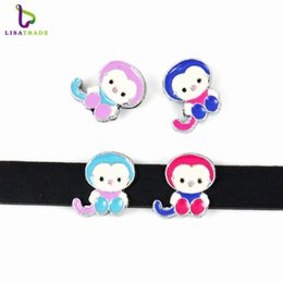 Wholesale Dog Collars 8mm - Factory Price 20PCS 8MM Monkey Slide Charm DIY accessory A023 Fit 8mm Dog Collar & DIY Wristband & Belt   LSSC23*20