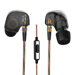 Wholesale Metal Bass Earphones - 2016 New Original KZ ATE Headphones 3.5mm in-ear Earphones HIFI Metal Stereo Earphones and Headphones Super Bass noise isolating