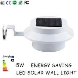Wholesale Led Wall Mount Pathway Lighting - LED solar wall light for garden decoration LED Security Lamps light outdoor mounted Fence Garden Pathway Wall Lamp Lighting