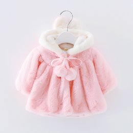 Wholesale Girls Baby Winter Warm Coats - Basacomie Retail Children's Clothing Girls' Coat Warm Velvet Baby Girls Cloak Winter Warm Kids Outerwear Coats 2-9T