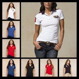 Wholesale bamboo shirt men - Polo Shirts Women'S Hot Men Slim Collar Solid Color Summer POLO Shirt Fashion Top Crocodile Embroidery Business Leisure Brand Woman Clo