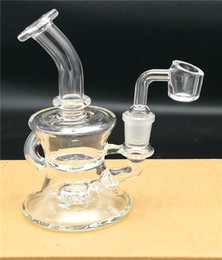 Wholesale Hb Glasses - HB new backwater rig, glass pipe, beeswax cans, water circulation pipes with 14.4mm quartz sausage