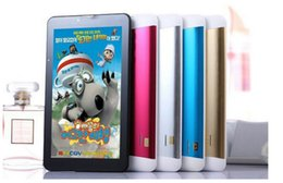 Wholesale 3g Sim Slot - 7 inch dual core 3G Tablet pc Support 2G 3G Sim card slot Phone call GPS WiFi FM tablet pc 7 Inch 3G Phone Call Tablet MTK8312 DHL Free