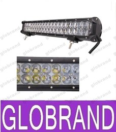 Wholesale Led Reflectors Bar - 20inch 126W 10500LM CREE LED Work Light Bar 4D Reflector For Car Offroad Fog Driving Lamp LED Automotive Lighting 12V led car styling GLO368