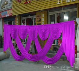 Wholesale Table Deco For Weddings - Hot Sale Luxurious Golden Ice Silk Wedding Backdrops Decoration Wedding Swag Wedding drape Wedding decoration Backdrop3*6M for Wedding Deco