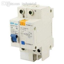Wholesale Earth Leakage - Wholesale-DZ47-63 C6 6000A Breaking Capacity 1 Pole Earth Leakage Circuit Breaker