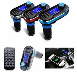 Wholesale Usb Modulator For Car - BT66 Dual USB Car MP3 Player FM Transmitter Modulator Car Kit 3in1 LCD TF Card Music Player Car Charger for iPod iPhone iPad MP3 MP4