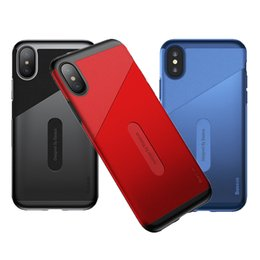 microfiber iphone Promo Codes - BASEUS for Apple iphone X Case with Card Pocket Slim PU Leather Microfiber Material Anti-Drop Back Cover Case for iphone X