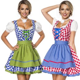Wholesale Beer Maid Dress - Free Shipping Sexy Girl German Oktoberfest Beer Maid Costume Halloween Party Girls Dress Up Performance Service Cosplay