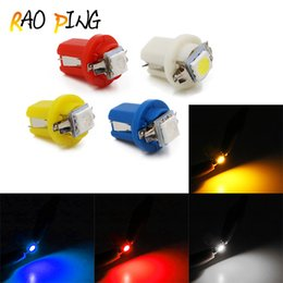 Wholesale Led Auto Dash Bulb - B8.5D Led 509T Car Gauge Speed Dash Bulb Instrument Light 1SMD 5050 Auto Wedge Dashboard Indicator Lamp Bulbs