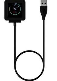 2019 guarda le chips Cavo di ricarica caricabatterie di ricambio USB 1M per Fitbit Blaze Smart Watch Smart Wristband con chip Free DHL OTH221 guarda le chips economici