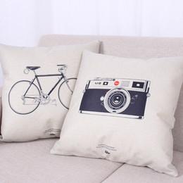 2019 велосипедные камеры Новое прибытие простая мода белье бросить наволочку Главная декоративные велосипед / камера pattern подушка наволочка постельные принадлежности DHL 240612 скидка велосипедные камеры