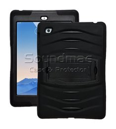 Wholesale Hybrid Hard - For New IPad 9.7 2017 3 In 1 Soft Robot Silicone Hybrid PC Hard Case Cover For IPad Air 1 2 Samsung TabE T560 Pro OPP BAG