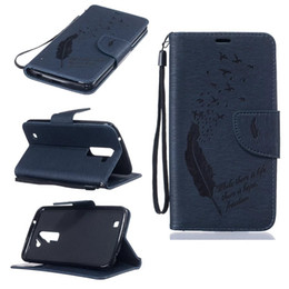 Wholesale Wallet Birds - For LG K10 K7 K8 For Huawei P9,P9 Lite,Y625,Honor 5X Emboss Bird Stand Stylish Feather Wallet Leather Pouch Flip Cover Card Slot TPU Strap