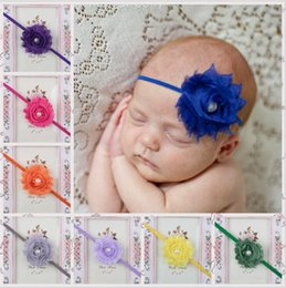 Wholesale mixed girl babies - Baby girls infants headbands flowers bows Kids hair Accessories headbands mix for girls Children hair bands headbands 15 colors KHA145