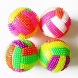 Wholesale Light Up Hedgehog Balls - 1PCS LED Sound Volleyball Flashing Light Up Color Changing Bouncing Hedgehog Ball Kids Toys For Baby Kid 6.5cm