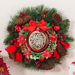 Tarjetas de felicitación para el nuevo año online-Tarjeta de felicitación de eco friendly Feliz Año Nuevo Feliz Navidad Postal de navidad de papel Mensaje árbol percha ornamento Con El Sobre