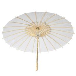 padrões de iluminação exterior Desconto 30 pcs Bambu Diâmetro 23.6 polegada de Casamento Parasol Guarda-chuva Papel Branco Longo Lidar Com Nupcial Do Casamento Parasol Adulto Tamanho ZA0946