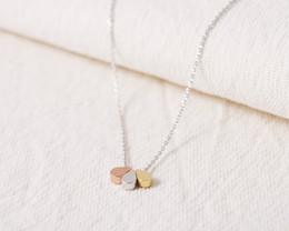 Wholesale Chic Plates - Hot Sale Hippie Chic Tiny Three Teardrop Pendant Water Drops Necklace Boho Thin Necklaces Ladies Fashion Neclaces For Women 2016