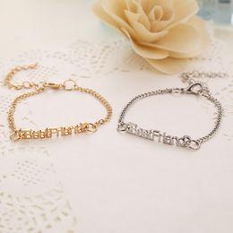 Wholesale Popular Female Model - Hot woman friend necklace bracelet female models Pendant 2016 new European and American popular jewelry alloy new