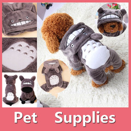 Wholesale Totoro Clothes - Halloween Christmas Cosplay Cartoon Totoro Fun Costume Cute Anime Onesie Pet Dog Puppy Winter Clothes Size XXS-L