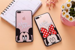 Wholesale Iphone Frosted Cartoon Case - Fashion typical mobile lovely cartoon Phone Cases For iphone 6S, iphone 6S 7 Plus, frosted TPU embossed phone back cover case,Free logo.
