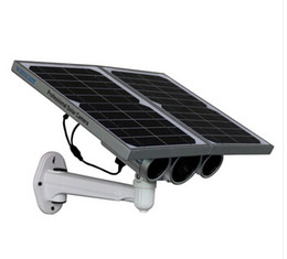 Wholesale Solar Powered Ip Camera Wireless - Bigger batteries Solar Powered Wireless Starlight IR 100 M Surveillance Long IR Distance IP Camera 720P TF Card Project CCTV Camera Outdoor
