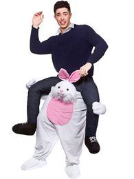 Wholesale Teddy Bear Mascots - Teddy Bear Stuffed White Rabbit Ride On Me Stag Mascot Costume Carry Piggy Back Fancy Dress Costume