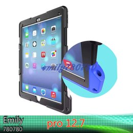 Wholesale Military Shipping Case - For IPAD Pro 12.7 Military Extreme Heavy Duty Shockproof CASE Stand Free Shipping By DHF