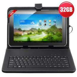 "Wholesale Allwinner Tablet Covers Keyboard - 10.1"" Inch 32GB Allwinner A31S Google Android 4.4.2 Quad Core Tablet PC Bundle Keyboard cover"