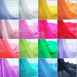Wholesale Georgette Dresses Wholesale - Chiffon fabric soft fabric for dress lining cloth material 100d georgette fabrics wedding DIY Fabric 100M