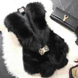 Wholesale Vest Fur Real Fox - Wholesale-Free shipping 2016 women real fox fur vest 100% genuine natural fox fur sleeveless jacket A016