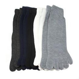 Wholesale Cheap Warm Socks - Wholesale-5 Pairs Cheap Fashion Sale Men Five Fingers Separate Toe Socks Solid Comfortable Warm Hot Socks