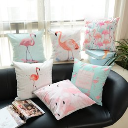 Wholesale Used Sofas - Printing Pillow Case Bedding Article Many Styles Household Bedroom Sofa Decoration Flamingo Pillowslip Comfortable Used To Room 9yd C R