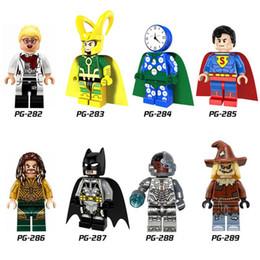Wholesale Loki Figure - Super Heroes Minifig Loki Spider Man Captain America Scarecrow Watch and clock man Figure Mini Building Blocks Figures 120pcs