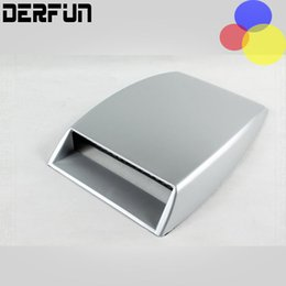 Wholesale Air Vents Hood - Car Air Flow Sticker Auto Styling Universal Decorative Intake Scoop Turbo Vent Cover Hood White Black Silver