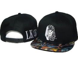 Wholesale Bull Caps - Hot New fashion Top quality Last Kings Snapback Baseball Hat LK OG TUT Blue Adjustable Cap Hip Hop Swag Bulls Tyga
