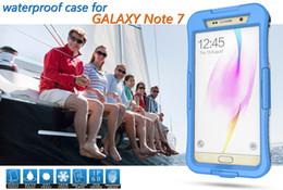 Wholesale Ipx8 Waterproof Case - Waterproof Cases For Samsung Note7 Note6 S7 S6 edge iPhone 6s 6 Plus Underwater IPX8 Armor Fingerprint Identificate Shockproof Phone Cover