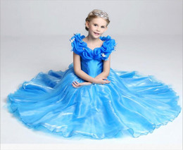Wholesale Baby Cinderella Dresses - 2016 Summer Baby Girl Child Kids Party Wedding Princess Cosplay Gown Butterfly Paillette Cinderella Dress free shipping