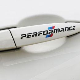 logo 3d de bmw Promotion 2 * 14cm Voiture Sport Performance Autocollants Poignée De Porte Stickers Styling Logo Pour BMW M3 X3 X5 X5 X6 E36 E39 E46 E30 E60 E92