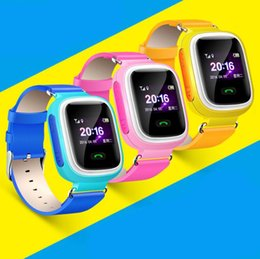 Wholesale Watch Phone Touch Screen Wifi - New Arrival Q90 GPS Phone Positioning Fashion Children Watch 1.22 Inch Color Touch Screen WIFI SOS Smart Watch PK Q80 Q50 Q60