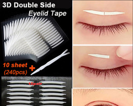 Wholesale Double Side Adhesive Eyelid Tape - Wholesale- New 240pcs lot 3D Double Sided Invisible Eyelid Tape Strong Adhesive Eyelid Sticker Beauty Eyelid Tools For Women Girl free shipp