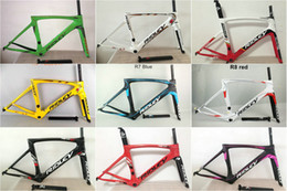 Wholesale Carbon Clamp - Ridley MATTE Glossy mix Carbon Road Bike Frames 3K Wave Bicycle Frameset Fork Seatpost Headset Clamp